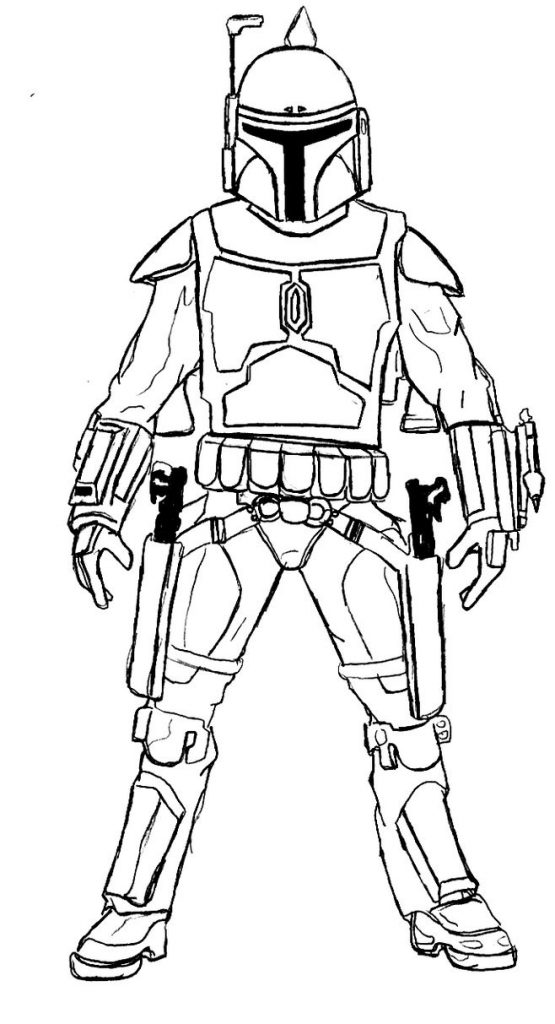 Stormtrooper Coloring Page Printable