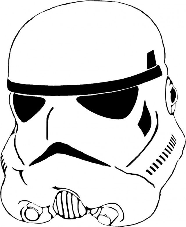 Stormtrooper Mask Coloring Page