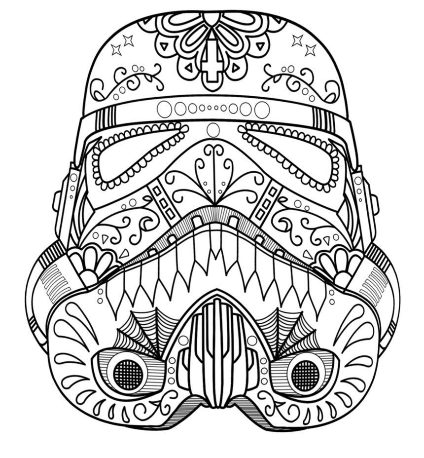 Storm Trooper Helmet Coloring Page