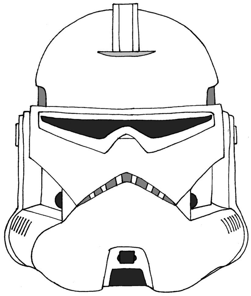 Stormtrooper Mask Printable Coloring Page