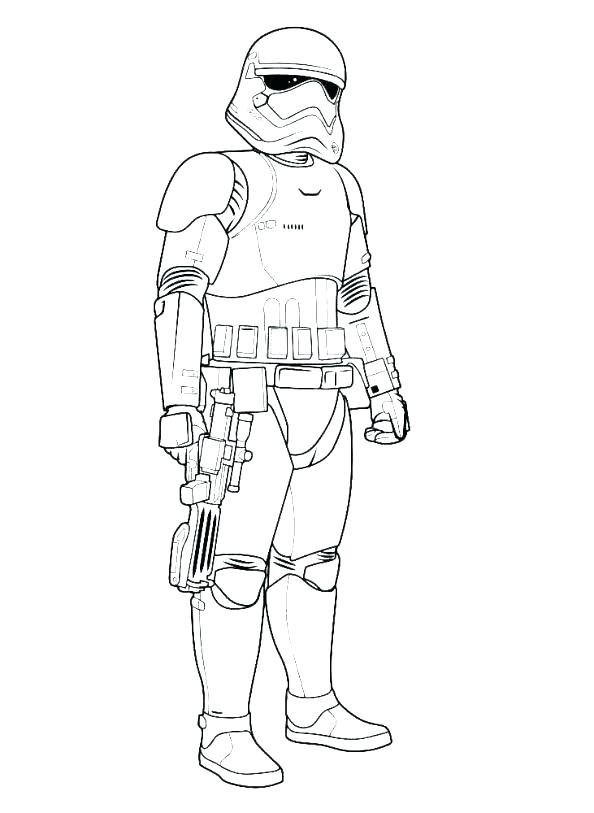Stormtrooper Star Wars Coloring Pag