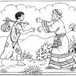 The Prodigal Son Bible Story Coloring Page