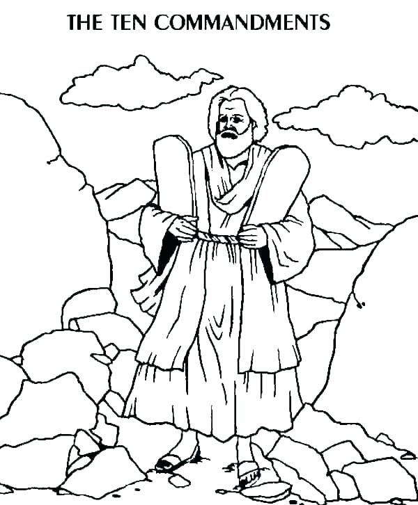 The Ten Commandments Coloring Sheet