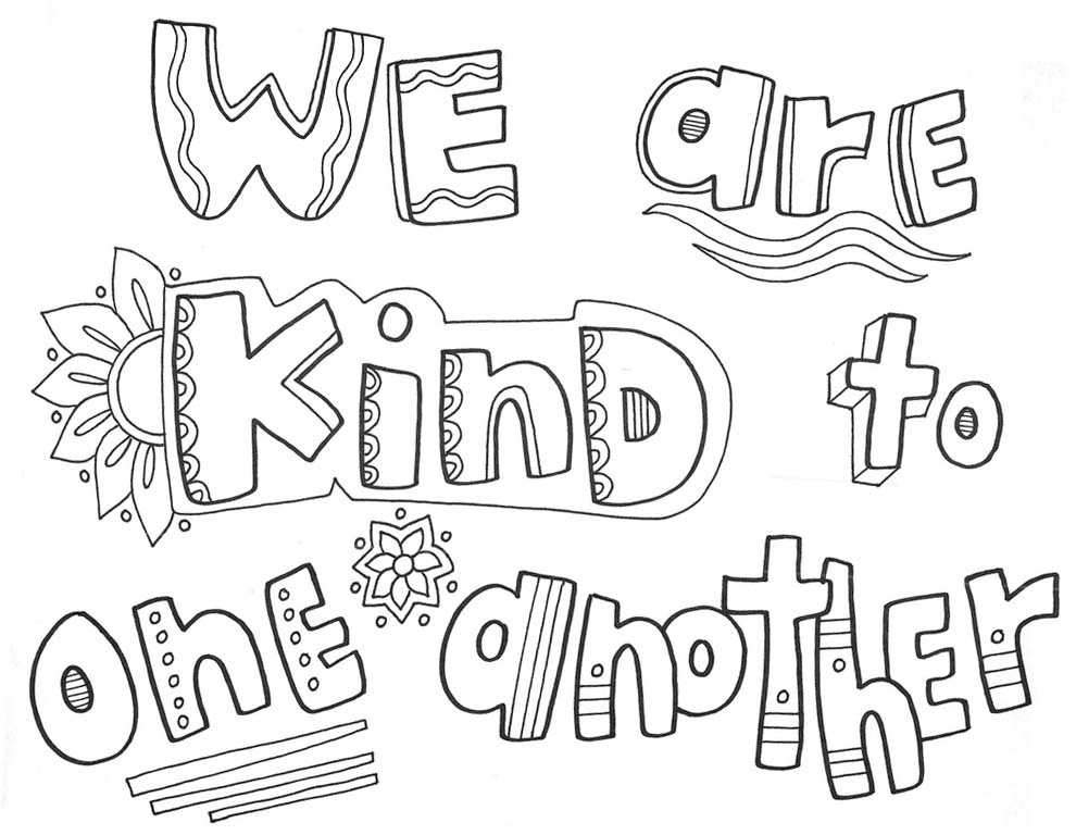 We Are Kind - Coloring Page for Kids