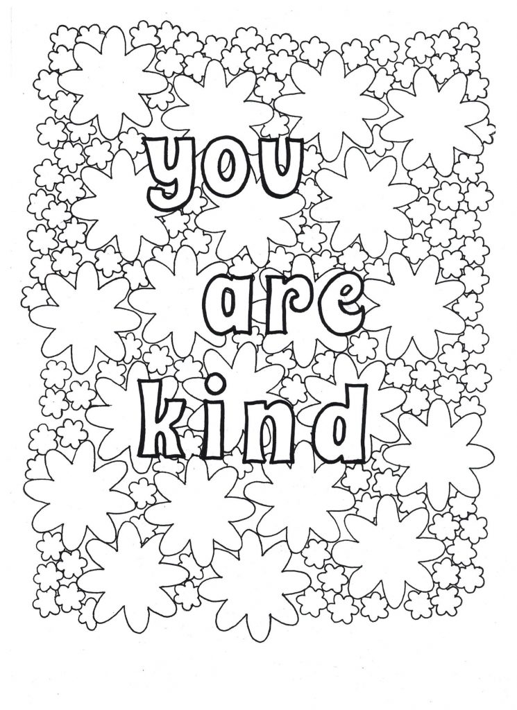 You Are Kind - Coloring Page