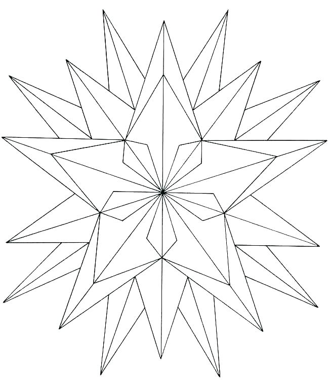 18 Point Star Coloring Page