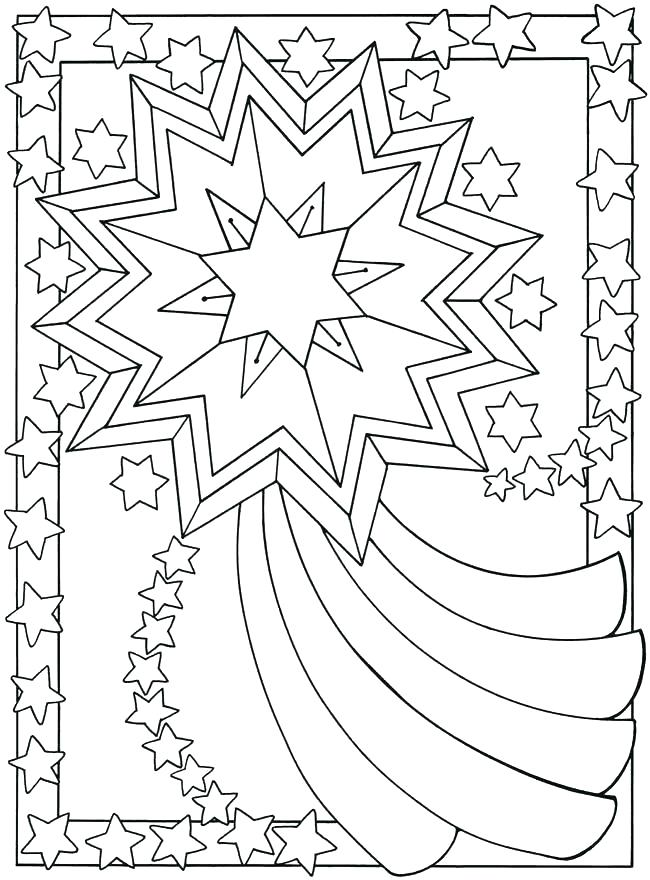 Banner Stars Coloring Page