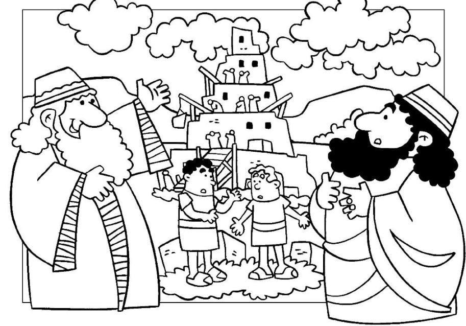 Bible Story Building The Tower Of Babel Coloring Page