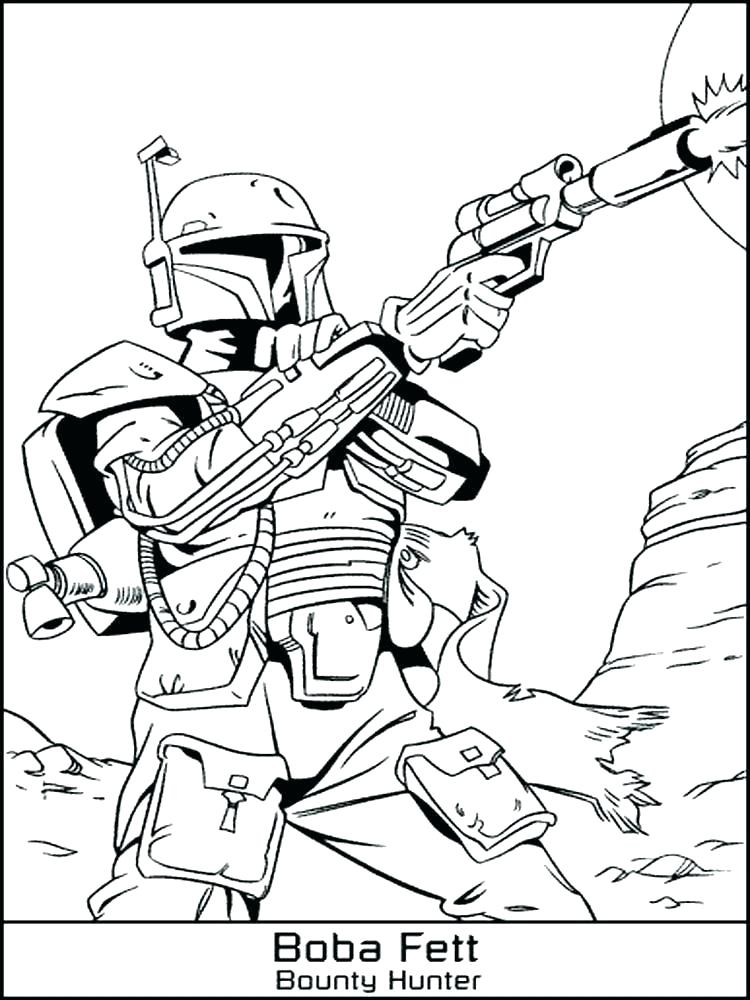 Boba Fett Bounty Hunder Coloring Pages