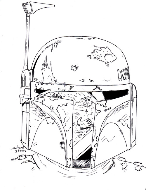Boba Fett Helmet Coloring Pages