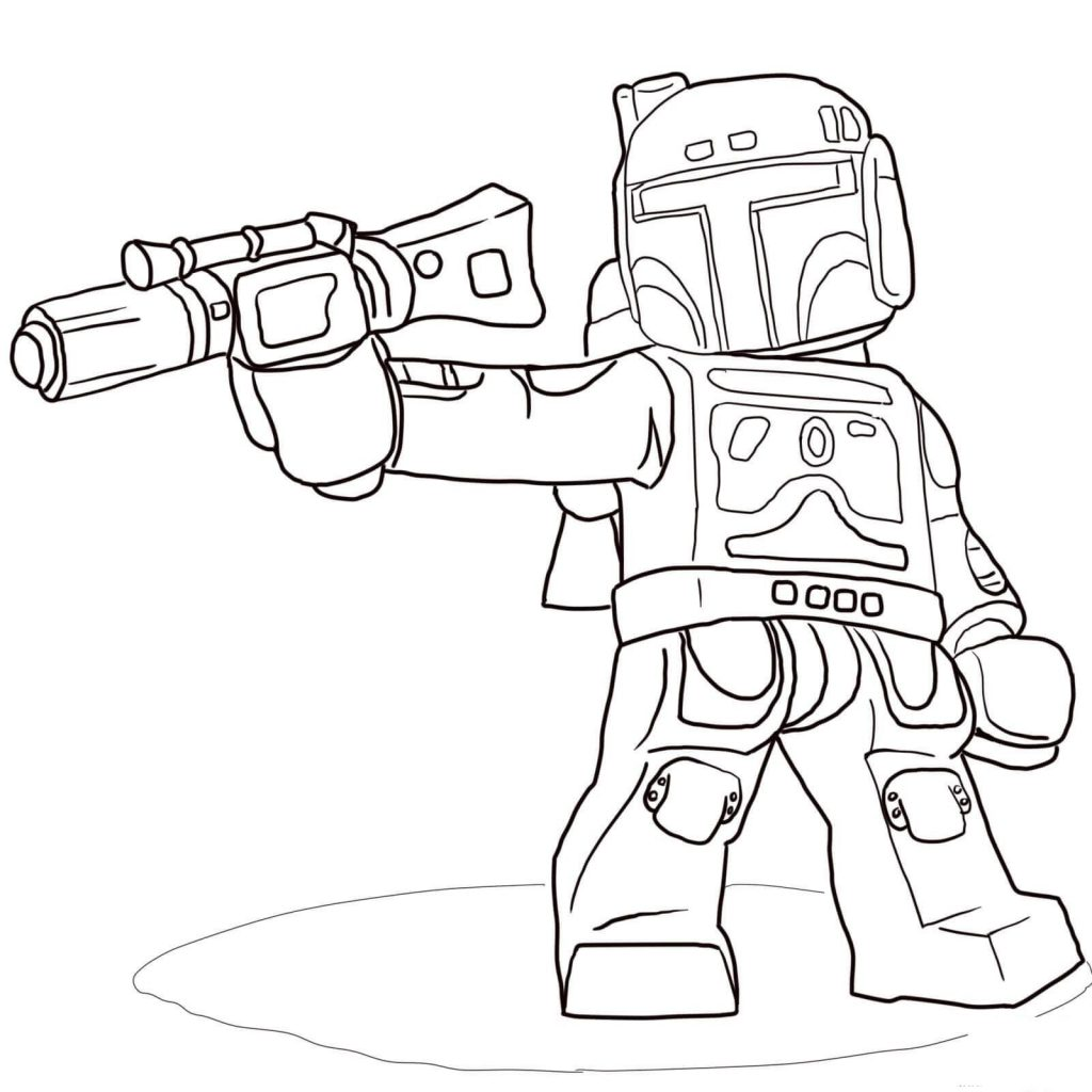 Boba Fett Lego Star Wars Coloring Pages