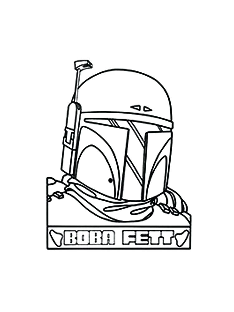 Boba Fett Line Art Coloring Pages