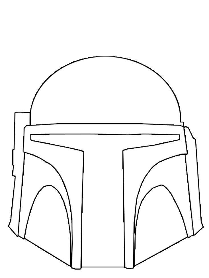 Boba Fett Mask Coloring Page