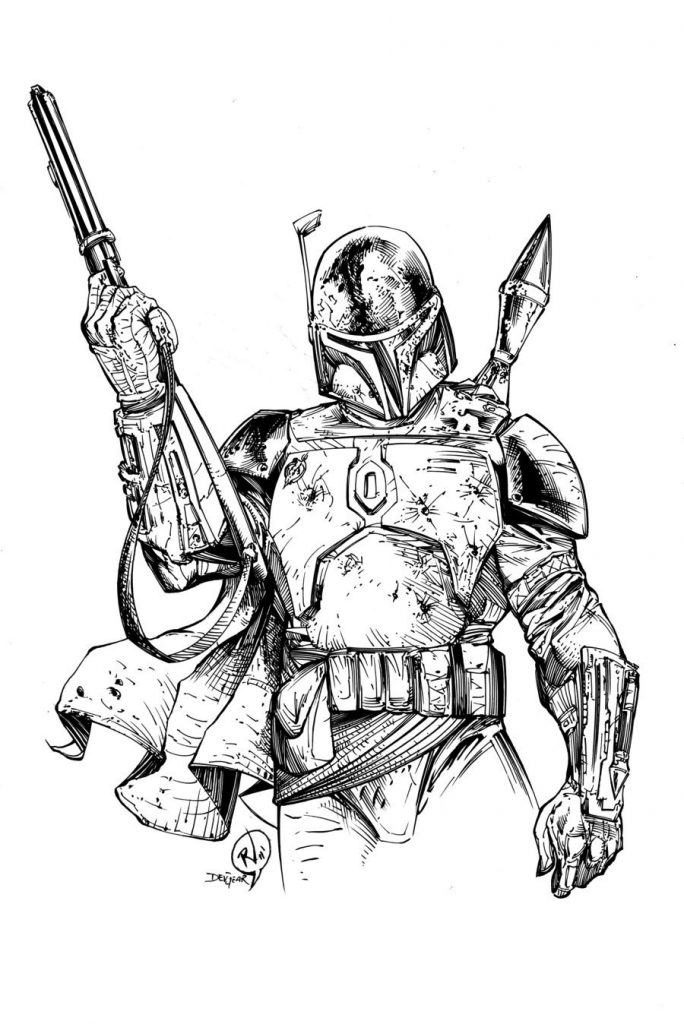 Boba Fett Star Wars Coloring Page