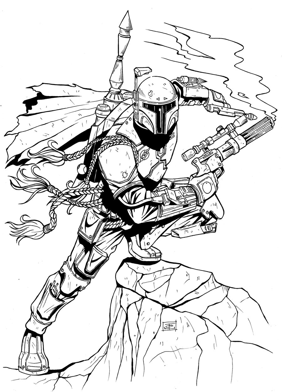 Boba Fett Coloring Pages - Best Coloring Pages For Kids