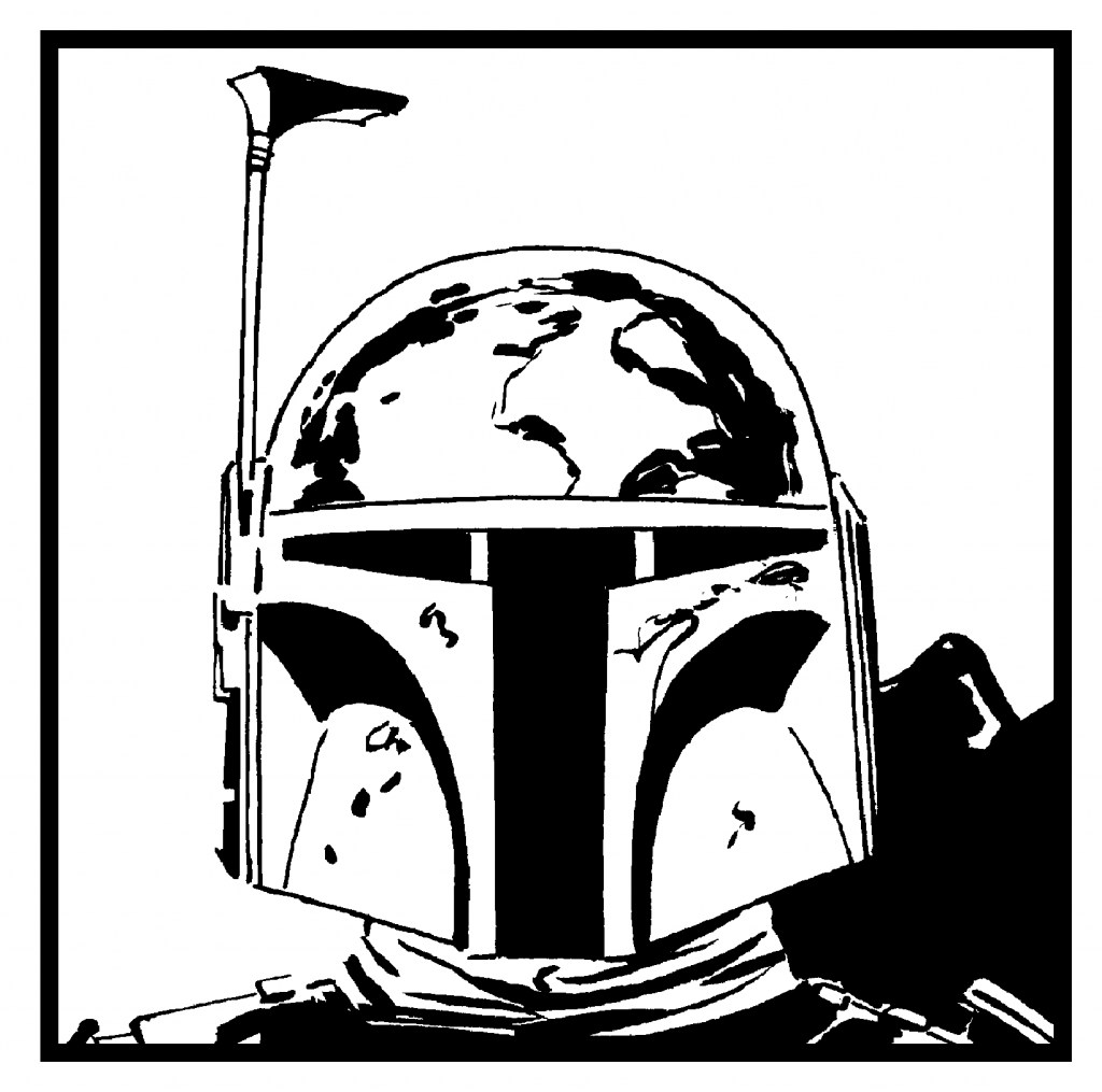 Boba Fetts Helmet Coloring Pages