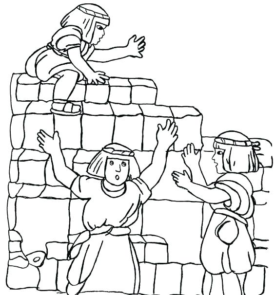 Building Tower Of Babel Bible Story Coloring Page