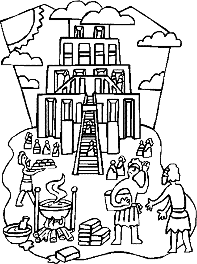 Building The Tower Of Babel Coloring Page