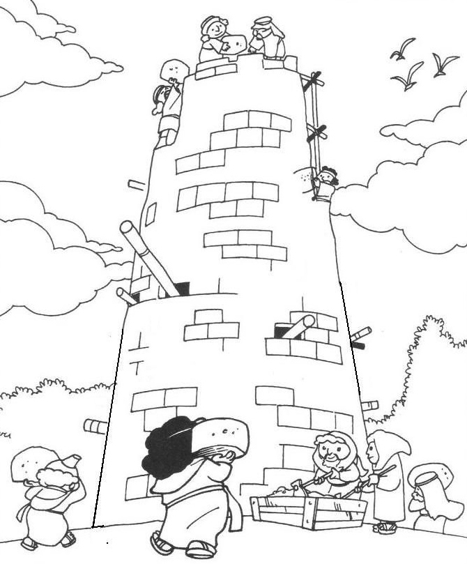 Building The Tower Of Babel Coloring Pages