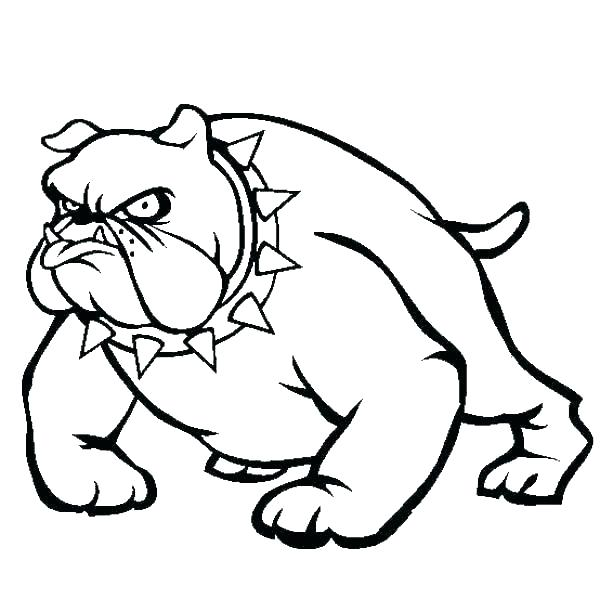 Cartoon Pitbull Coloring Pages
