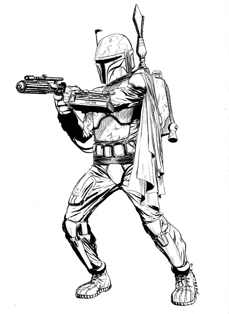 Color Boba Fett From Star Wars