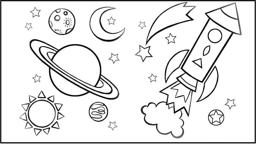 Cute Galaxy Coloring Pages