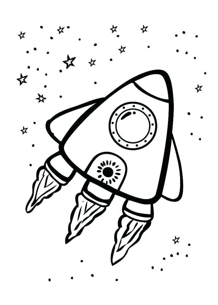 Cute Spaceship - Galaxy Coloring Pages