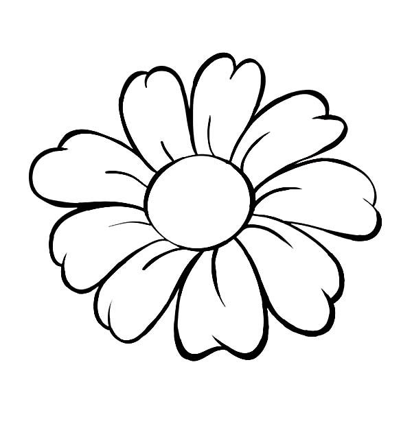 Daisy Head Coloring Page