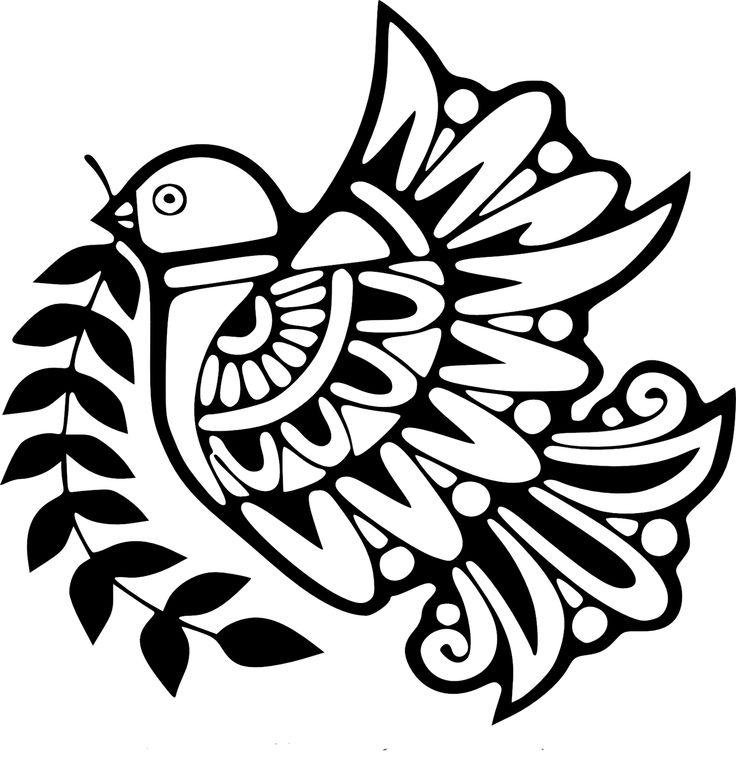 Dove Design Coloring Page