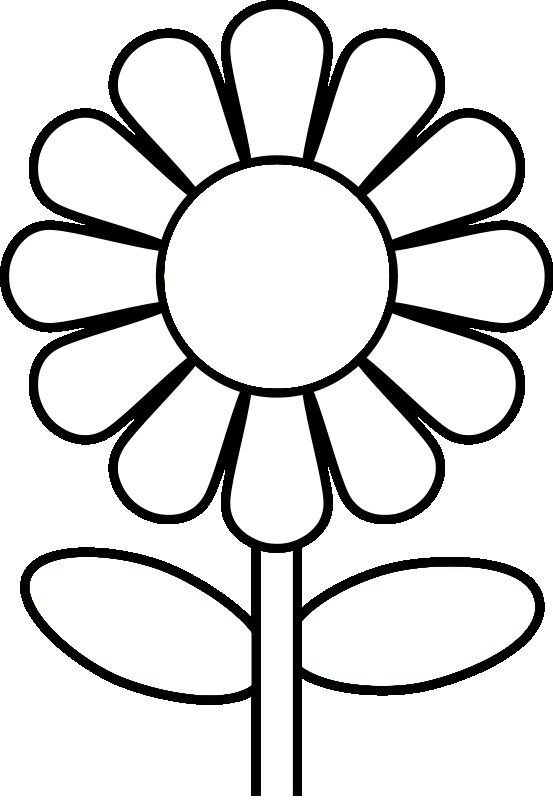 Easy Daisy Flower Coloring Page