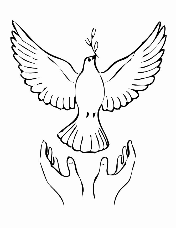 Freedom Dove Coloring Page