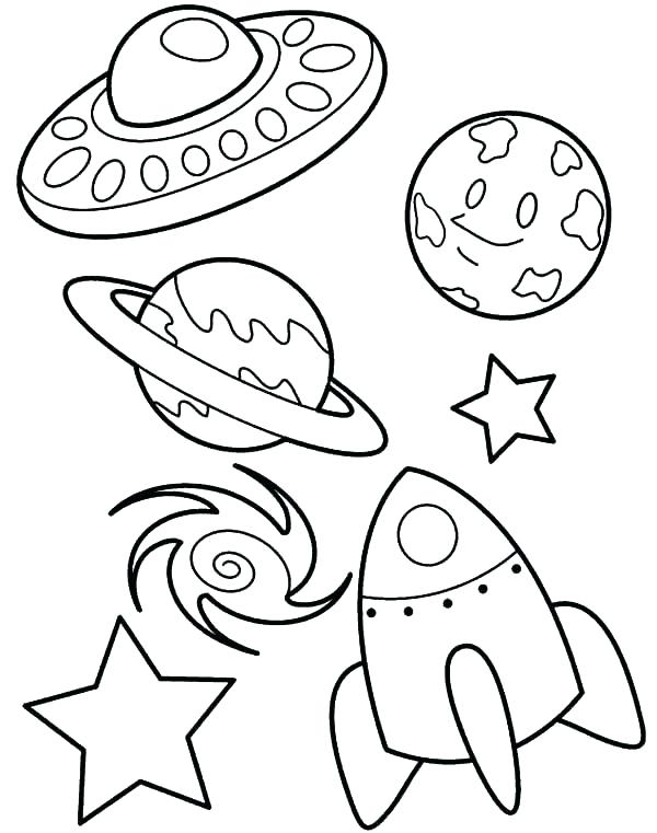 Galaxy Coloring Pages