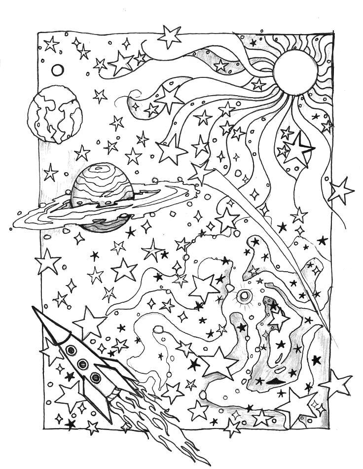 Galaxy Printable Art to Color