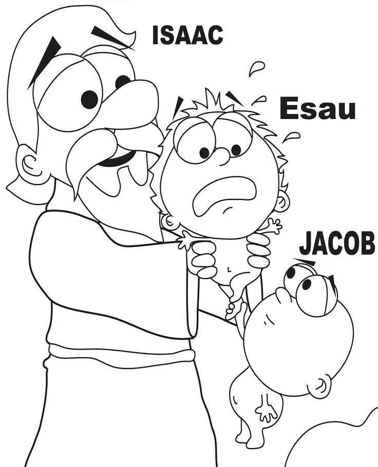 Isaac Jacob And Esau Coloring Pages