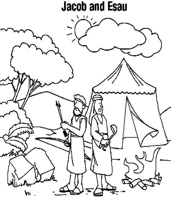Jacob And Esau Bible Story Coloring Page
