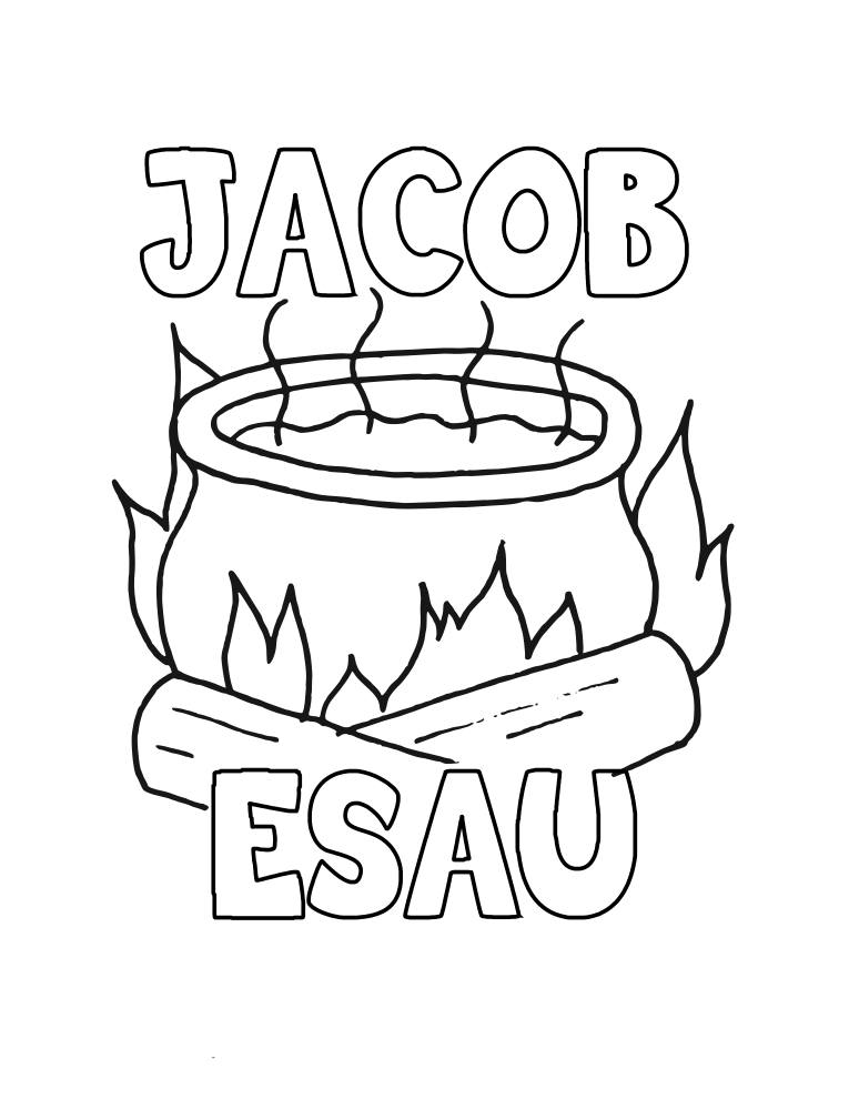 Jacob And Esau Soup Coloring Pages