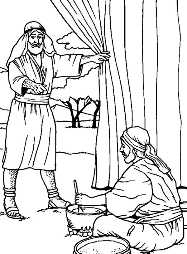 Jacob and Esau Stew Coloring Pages