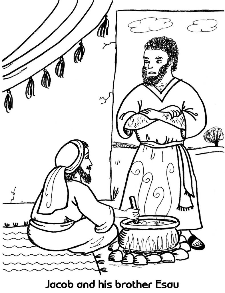 Jacob And His Brother Esau Coloring Page