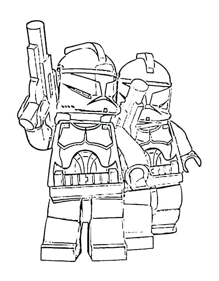 Lego Boba Fett Coloring Pages
