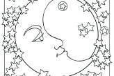 Moon and Stars Coloring Pages