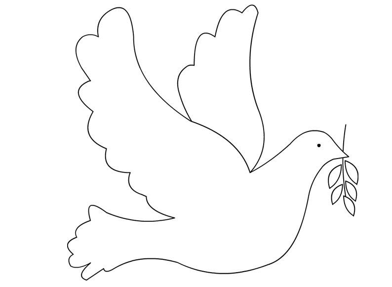 Olive Branch and Dove Coloring Page