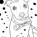 Pitbull Love Coloring Page