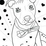 Pitbull Love Coloring Page