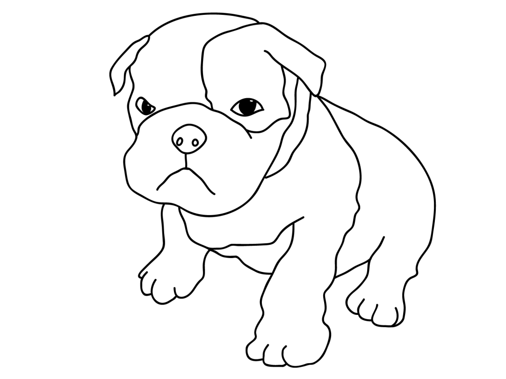 Pitbull Puppy Coloring Page