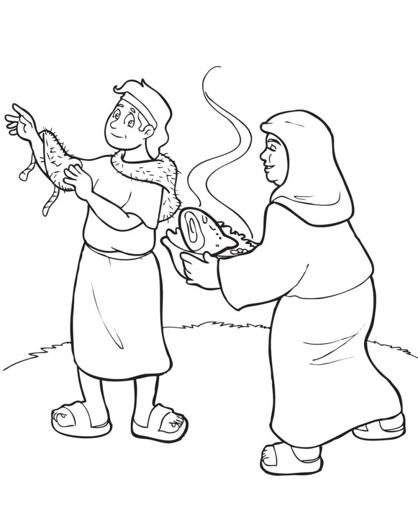Print Jacob And Esau Coloring Pages