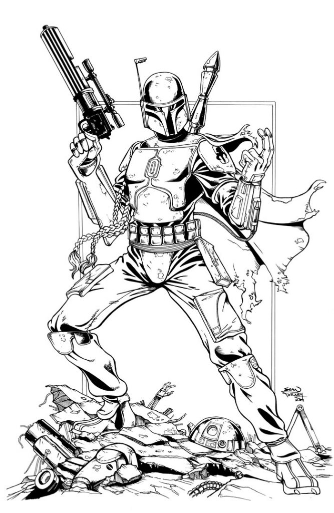 Printable Boba Fett Coloring Pages