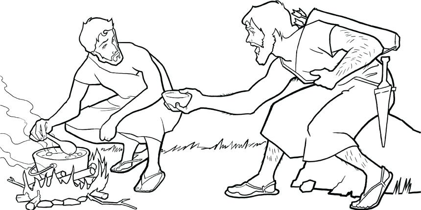 Printable Jacob And Esau Coloring Page