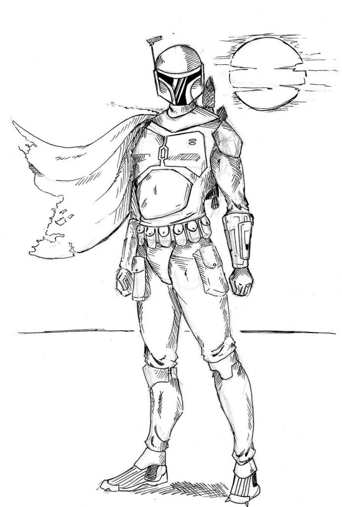 Proud Boba Fett Coloring Pages