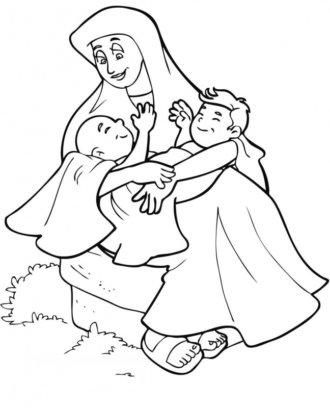 Abraham and isaac coloring page - timeless-miracle.com | 800x648