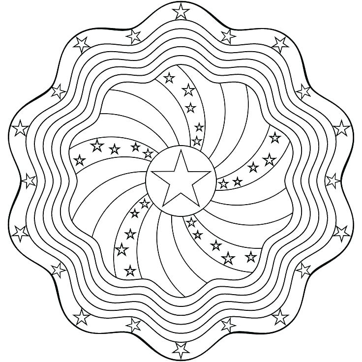 Stars Banner Paper Craft Coloring Page